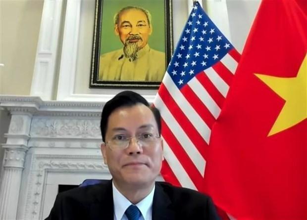 越南驻美大使何金玉出席越南火花倡议小组第一次会议 hinh anh 1