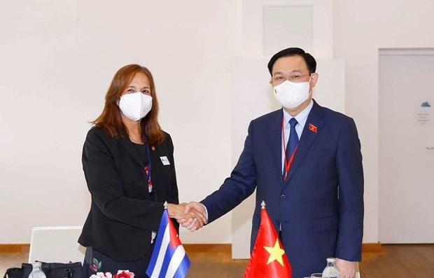 国会主席王廷惠会见古巴古巴全国人民政权代表大会副主席 hinh anh 1