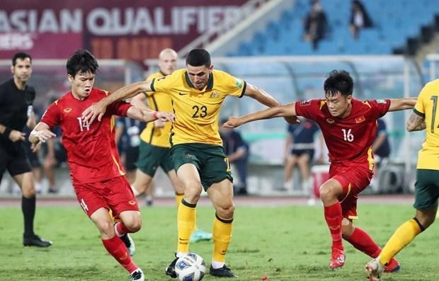 2022年卡塔尔世界杯亚洲区预选赛12强赛:越南队0-1澳大利亚队 hinh anh 1