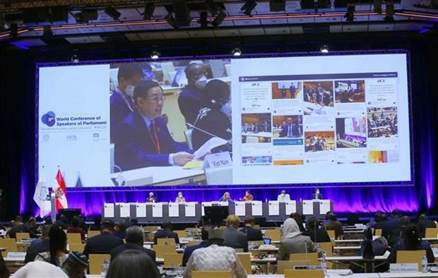第五次世界议长大会:越南国会主席王廷惠就应对新冠肺炎疫情和气候变化发表讲话 hinh anh 2