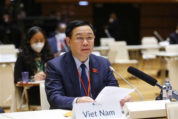 第五次世界议长大会:越南国会主席王廷惠就应对新冠肺炎疫情和气候变化发表讲话 hinh anh 1