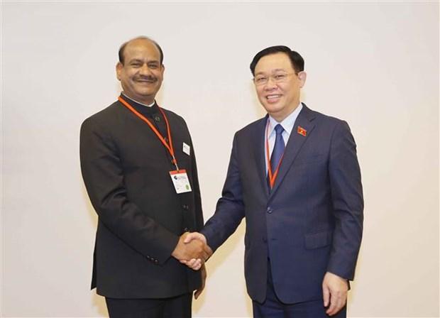 越南国会主席王廷惠在第五次世界议长大会期间的活动报道集 hinh anh 4
