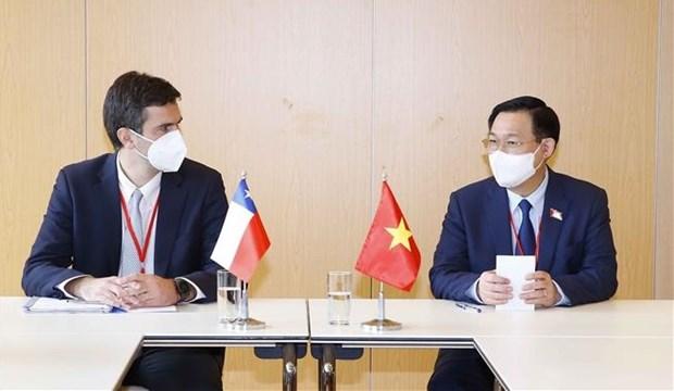 越南国会主席王廷惠在第五次世界议长大会期间的活动报道集 hinh anh 5