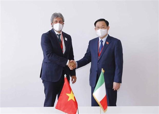 越南国会主席王廷惠在第五次世界议长大会期间的活动报道集 hinh anh 3