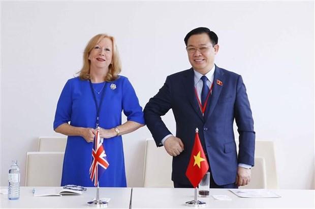 越南国会主席王廷惠在第五次世界议长大会期间的活动报道集 hinh anh 2