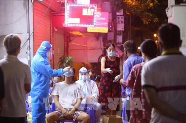 9月15日早河内市新增三例新冠肺炎确诊病例 均在封锁区发现 hinh anh 1
