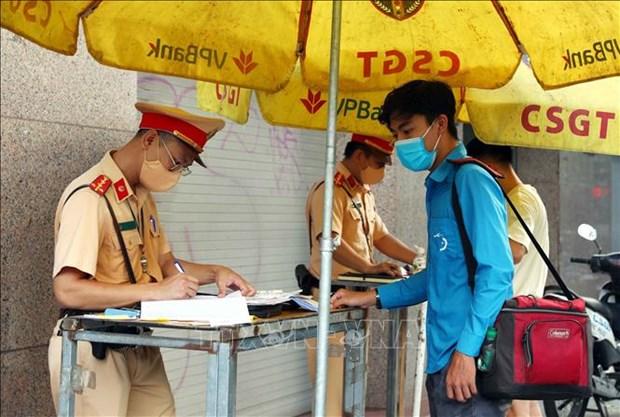河内在 67 个疫情防控检查站安装二维码扫描器 hinh anh 1