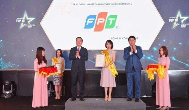 FPT 在越南信息技术企业 10 强活动中获得大胜 hinh anh 1