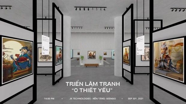 虚拟现实展览吸引热爱越南文化的年轻人 hinh anh 1