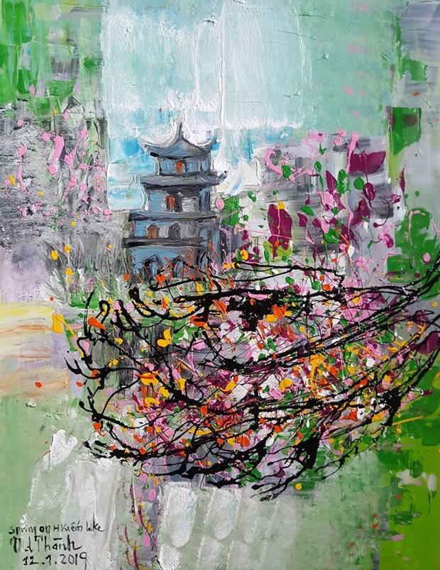 有关河内的绘画展在河内举行 hinh anh 1