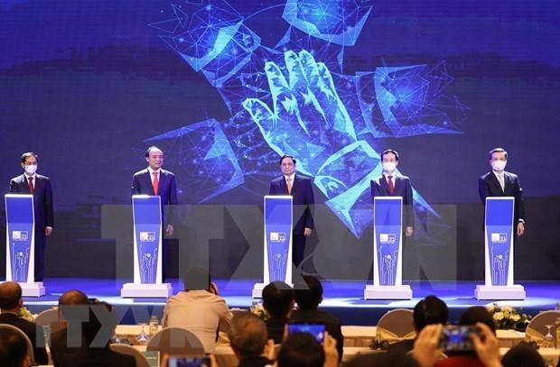 越南政府总理范明政提出数字世界合作中的5大优先事项 hinh anh 1
