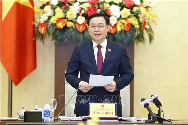 国会主席王廷惠会见科技应用领域典范企业领导 hinh anh 2
