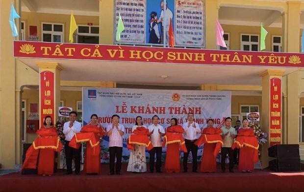 Tai tro 5 ty dong xay truong hoc tai huyen mien nui Thanh Chuong hinh anh 1