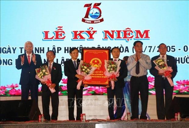 Cong bo thanh lap thi xa Dong Hoa, tinh Phu Yen hinh anh 1