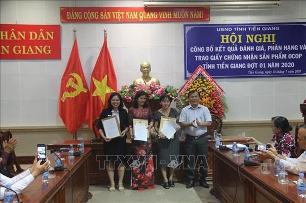 Tien Giang cong bo them 6 san pham duoc cap chung nhan san pham OCOP hinh anh 2