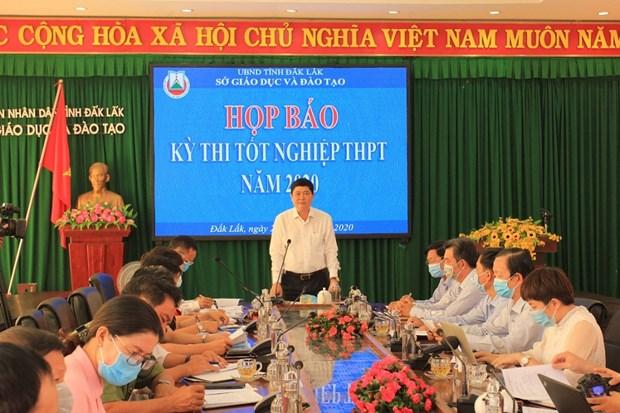 Ky thi tot nghiep Trung hoc pho thong nam 2020: Dak Lak dam bao de ky thi an toan, dung quy che hinh anh 1