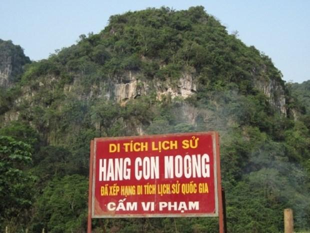 Bao ton gia tri di tich khao co hang Con Moong va cac di tich phu can tinh Thanh Hoa hinh anh 1