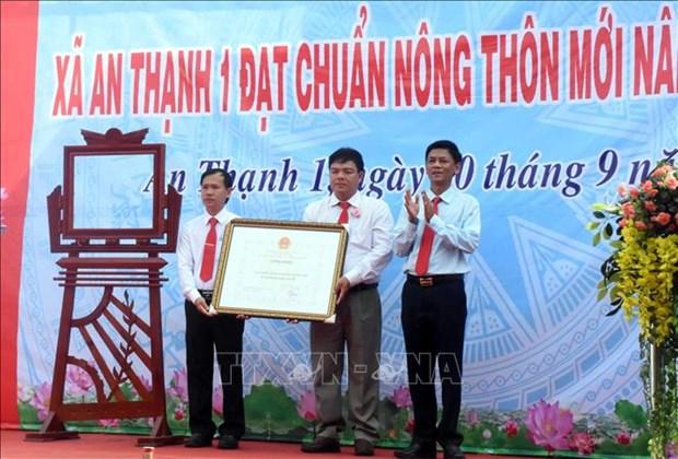 An Thanh 1 dat chuan xa nong thon moi nang cao dau tien o tinh Soc Trang hinh anh 1
