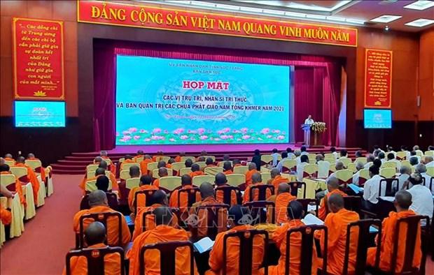 Gap mat nhan si, tri thuc va Ban quan tri cac chua Phat giao Nam tong Khmer tinh Soc Trang hinh anh 1