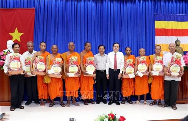 Pho Chu tich Thuong truc Quoc hoi Tran Thanh Man chuc Tet Chol Chnam Thmay tai Soc Trang hinh anh 1