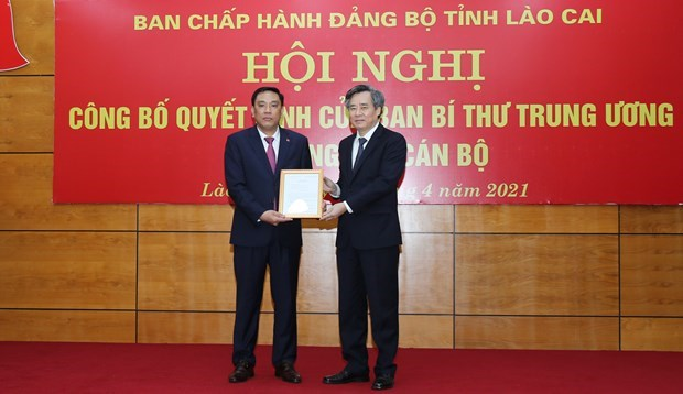 Cong bo Quyet dinh cua Ban Bi thu ve cong tac can bo tai Lao Cai hinh anh 1