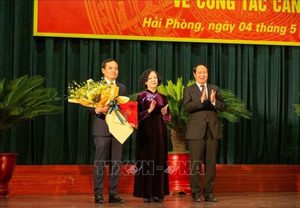 Phan cong ong Tran Luu Quang lam Bi thu Thanh uy Hai Phong hinh anh 1
