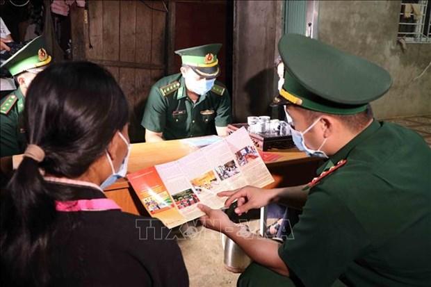 Luc luong Bien phong Lai Chau da dang cac hinh thuc tuyen truyen bau cu hinh anh 1