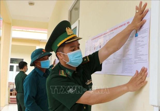 Luc luong Bien phong Lai Chau da dang cac hinh thuc tuyen truyen bau cu hinh anh 3