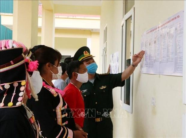 Luc luong Bien phong Lai Chau da dang cac hinh thuc tuyen truyen bau cu hinh anh 5