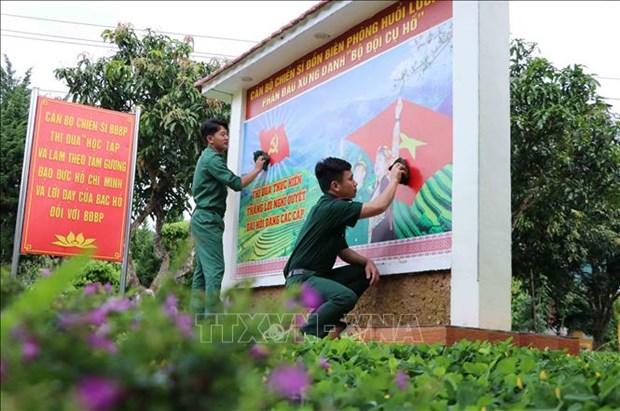 Luc luong Bien phong Lai Chau da dang cac hinh thuc tuyen truyen bau cu hinh anh 6