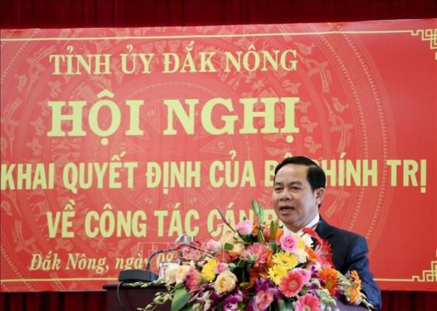 Ong Dieu K'Re lam Pho Bi thu Tinh uy Dak Nong hinh anh 2