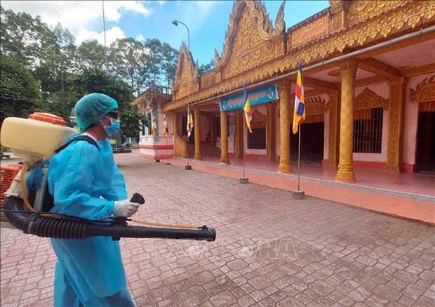 Dong bao Khmer Soc Trang chung tay phong, chong dich COVID-19 hinh anh 2