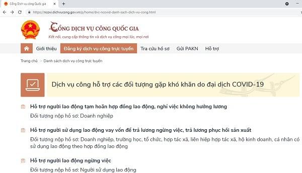 Cong Dich vu cong quoc gia co 8 dich vu ho tro nguoi lao dong va doanh nghiep hinh anh 1