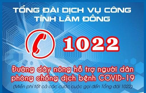 Lam Dong: Cong bo danh sach, so dien thoai phuc vu nguoi dan phong, chong COVID-19 hinh anh 1