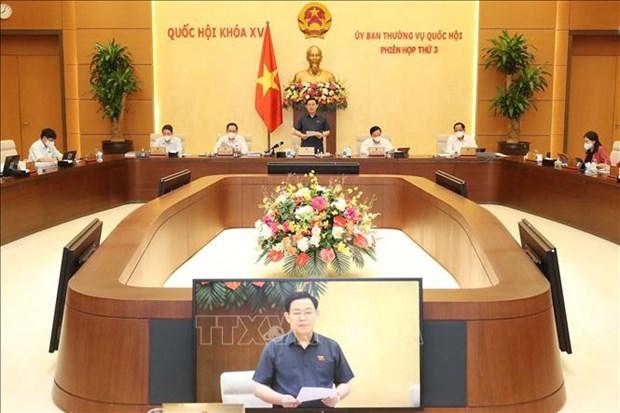 Khai mac Phien hop thu 3 Uy ban Thuong vu Quoc hoi hinh anh 3