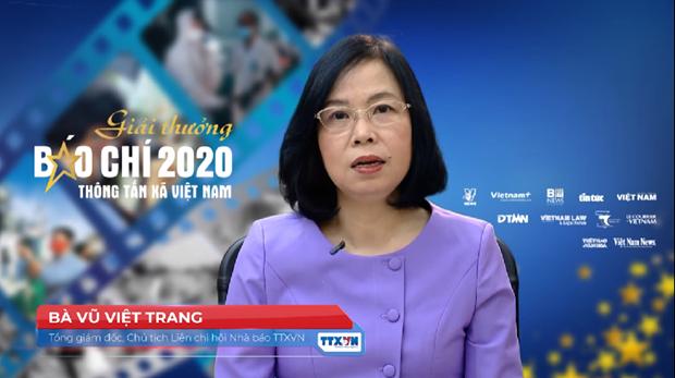 Giai thuong Bao chi TTXVN nam 2020: Khang dinh tinh chuyen nghiep, su gan ket va tinh than trach nhiem hinh anh 1