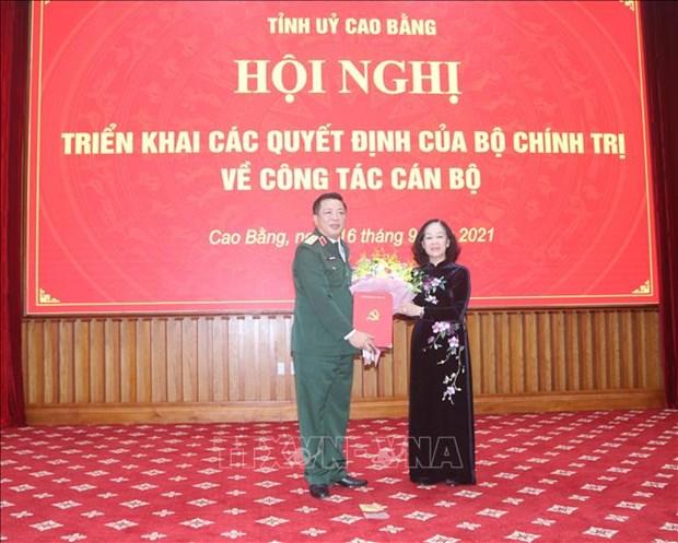 Ong Tran Hong Minh giu chuc Bi thu Tinh uy Cao Bang hinh anh 1