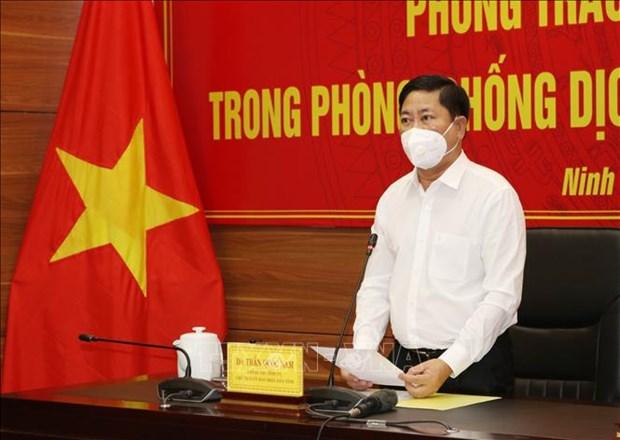 """Ninh Thuan day manh mo rong """"vung xanh"""" tren ban do COVID-19 hinh anh 2"""