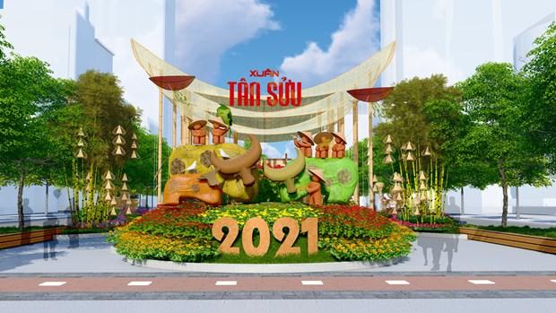 "Duong hoa Nguyen Hue Tet Tan Suu 2021 hua hen ruc ro voi chu de ""Thanh pho Ho Chi Minh: Van minh - Hien dai - Nghia tinh"" hinh anh 15"