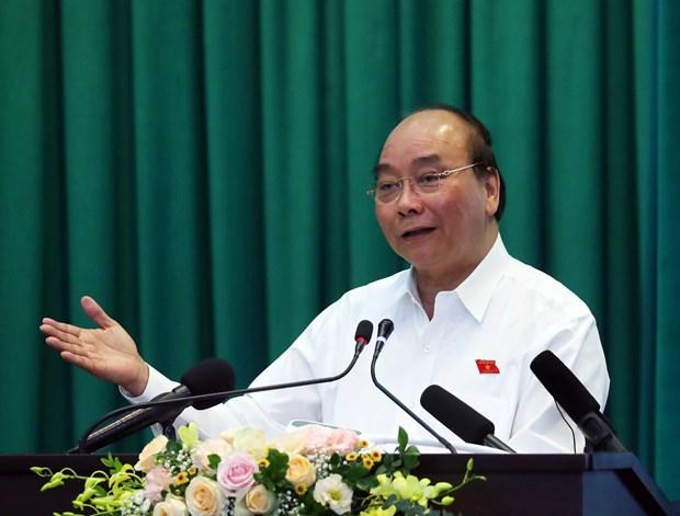 阮春福在海防市开展接待选民活动 hinh anh 1