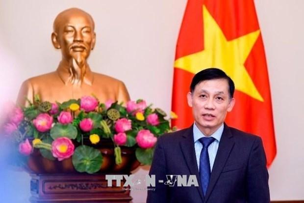 越柬边界地形图交接仪式在越南西宁省木排国际口岸举行 hinh anh 1