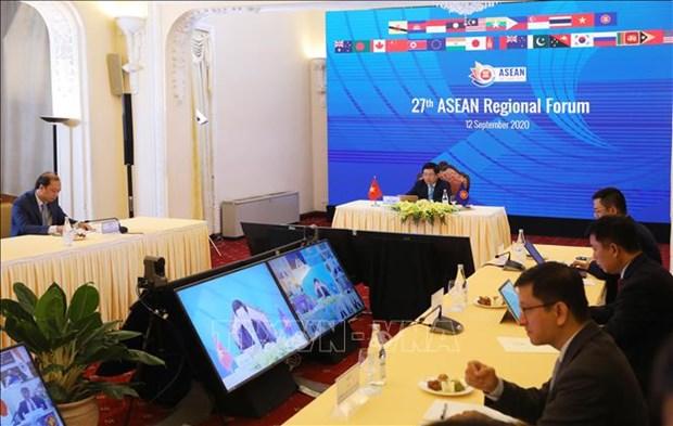第27届东盟地区论坛召开 发表主席声明 hinh anh 3