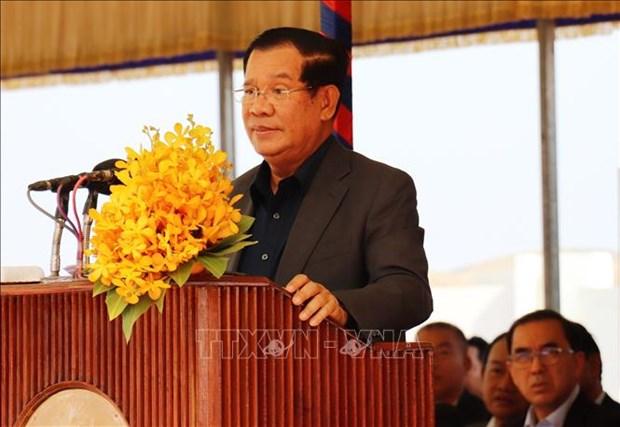 柬埔寨首相将主持柬越新边境口岸的竣工仪式 hinh anh 1