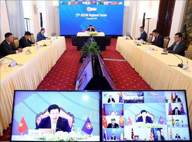 第27届东盟地区论坛召开 发表主席声明 hinh anh 2