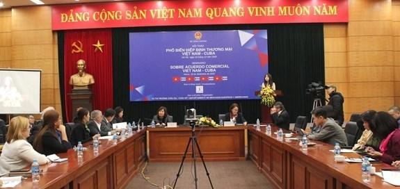 越南—古巴贸易协定知识普及研讨会在河内举行 hinh anh 1