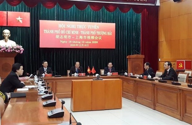 胡志明市与上海市加强合作 hinh anh 1