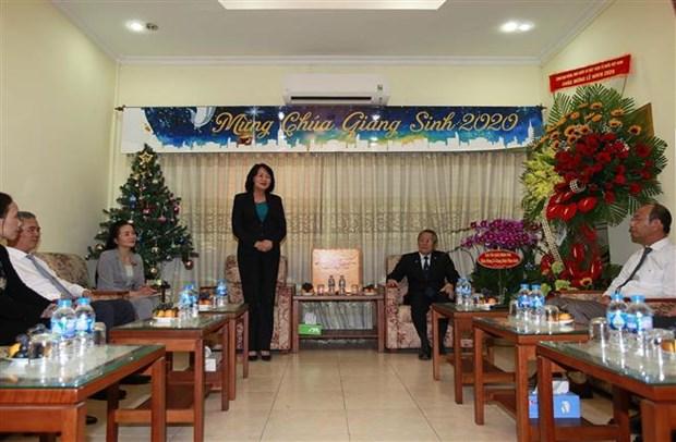 越南国家副主席邓氏玉盛向越南南方福音教教会致以圣诞祝福 hinh anh 2