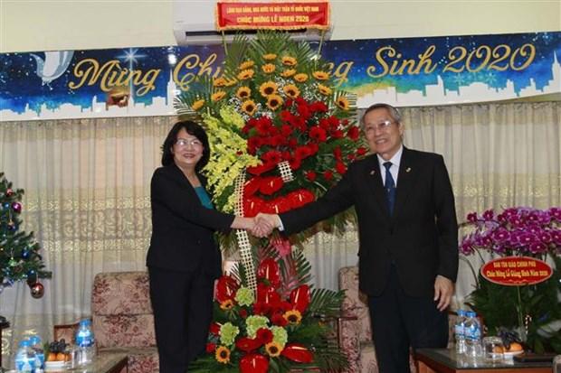 越南国家副主席邓氏玉盛向越南南方福音教教会致以圣诞祝福 hinh anh 1