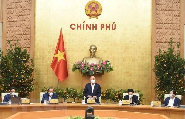 政府总理阮春福:各大城市在必要的情况下可实施社交距离措施 hinh anh 1