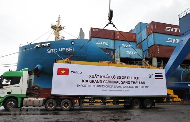 越南THACO汽车及零部件出口量创新高 hinh anh 1